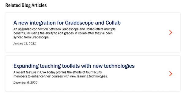 Related blog articles on Gradescope page